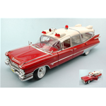CADILLAC AMBULANCE 1959 RED/WHITE 1:18 Greenlight Ambulanze Die Cast Modellino