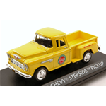 CHEVY STEPSIDE PICK UP 1955 YELLOW COCA COLA 1:43 Motorcity Classics Veicoli Commerciali Die Cast Modellino
