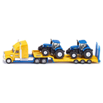 CAMION CON 2 TRATTORI 1984 NEW HOLLAND 1:87 Siku Camion Die Cast Modellino