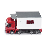 CAMION CON GARAGE MOBILE 1:50 Siku Camion Die Cast Modellino