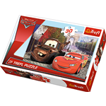 CARS 2 MATER AND LIGHTNING IN EUROPE DISNEY PUZZLE Pz.30 Produttori Vari Puzzle Die Cast Modellino