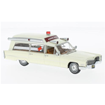 CADILLAC S&S AMBULANCE 1966 WHITE 1:43 Neo Scale Models Ambulanze Die Cast Modellino