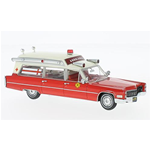 CADILLAC S&S AMBULANCE 1966 FIRE RESCUE 1:43 Neo Scale Models Ambulanze Die Cast Modellino