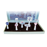 SEGNALI STRADALI BOX OF 8 TRAFFIC SIGNS 1:43 Norev Diorami Die Cast Modellino