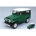 TOYOTA LAND CRUISER FJ40 1967 GREEN WITH WHITE ROOF 1:18 Triple 9 Auto Stradali Die Cast Modellino