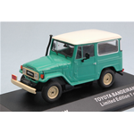 TOYOTA BANDEIRANTE 1967 (LAND CRUISER FJ40) GREEN WITH WHITE ROOF 1:43 Triple 9 Auto Stradali Die Cast Modellino