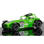 CATERHAM SUPERLIGHT N.32 LEE WIGGINS 1:32 Scalextric Slot Die Cast Modellino