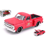 CHEVROLET C10 STEPSIDE 1969 MATT RED 1:24 Jada Toys Tuning Die Cast Modellino