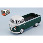 VW T1 PICK UP 1960 GREEN/WHITE 1:43 Cararama Campers-Roulottes Die Cast Modellino