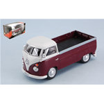 VW T1 BUS PICK UP 1960 AMARANT/WHITE 1:43 Cararama Campers-Roulottes Die Cast Modellino