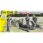 2 cm FLAK 38 EARLY/LATE PRODUCTION KIT 1:35 Dragon Kit Mezzi Militari Die Cast Modellino