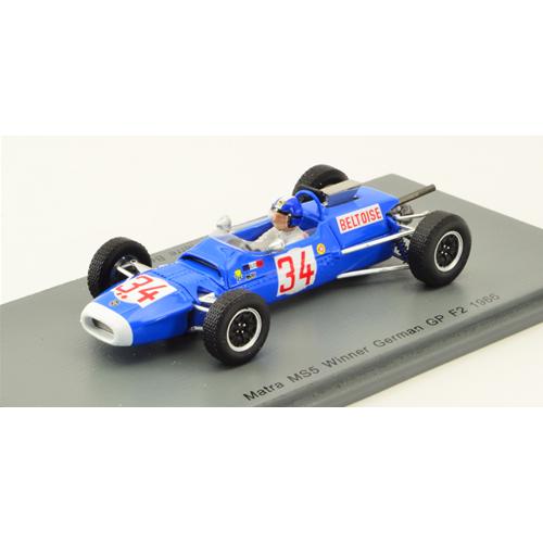 beltoise spark 1:43 s7180 miniature Matra f2 ms5 #34 german gp 1966 j.p