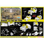ARMORED 1/4-Ton 4x4 TRUCK W/50-cal MACHINE GUN KIT 1:35 Dragon Kit Mezzi Militari Die Cast Modellino