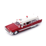 DE SOTO FIRESWEEP MEMPHIAN AMBULANCE 1957 RED-WHITE 1:43 Autocult Ambulanze Die Cast Modellino