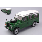 LAND ROVER SERIES III 109 1961 GREEN 1:24 Whitebox Auto Stradali Die Cast Modellino