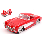 CHEVROLET CORVETTE 1957 RED/WHITE 1:24 Jada Toys Tuning Die Cast Modellino
