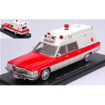 CADILLAC SUPERIOR AMBULANCE 1977 WHITE/RED 1:43 Neo Scale Models Ambulanze Die Cast Modellino