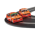 BMW E30 M3 TEA JAGERMEISTER TWIN PACK Pz.2 SLOT 1:32 Scalextric Slot Die Cast Modellino