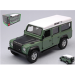 LAND ROVER DEFENDER 110 STATION WAGON 1995 GREEN/BLACK 1:32 Burago Auto Stradali Die Cast Modellino