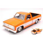CHEVY C10 GLOSSY PICK-UP 1985 ORANGE/WHITE 1:24 Jada Toys Tuning Die Cast Modellino