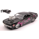 CHEVROLET CAMARP 1969 BLACK WITH FLAMES 1:24 Jada Toys Tuning Die Cast Modellino