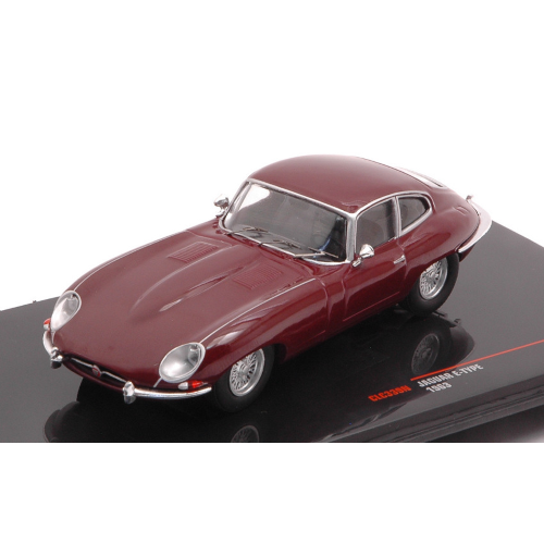 JAGUAR E TYPE 1963 DARK RED 1:43 Ixo Model Auto Stradali Die Cast Modellino