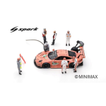 FIGURINE SET PORSCHE GT TEAM N.92 24 H LE MANS 2018 CAR IS NOT INCLUDED 1:43 Spark Model Diorami Die Cast Modellino