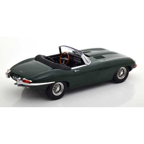 JAGUAR E-TYPE CONVERTIBLE OPEN SERIES 1 1961 DARK GREEN 1:18 KK Scale Auto Stradali Die Cast Modellino