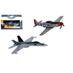 TOP GUN TWIN PACK FA-18 HORNET 2020 mm 80 AND P-51d MUSTANG 2020 mm 90 Airfix Kit Aerei Die Cast Modellino
