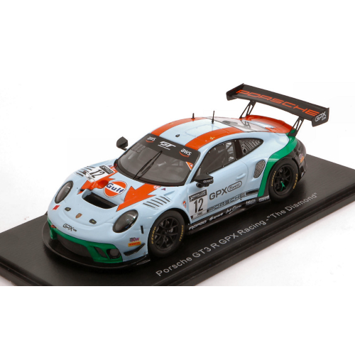 PORSCHE 911 991-2 GT3 R TEAM GPX RACING N.12 THE DIAMOND 1:43 Spark Model Auto Competizione Die Cast Modellino