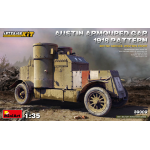 AUSTIN ARMORED CAR 1918 PATTERN BRITISH SERVICE INTERIOR KIT 1:35 Miniart Kit Mezzi Militari Die Cast Modellino
