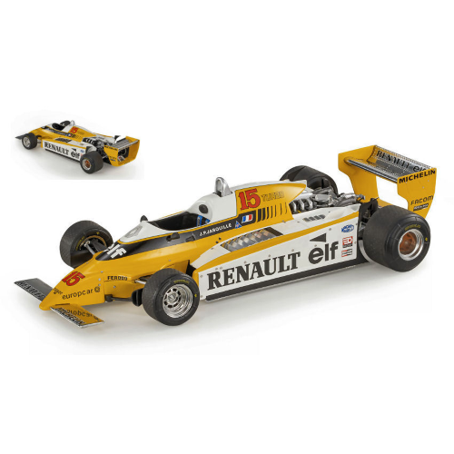 RENAULT RE20 TURBO N.15 1980 JEAN PIERRE JABOUILLE 1:18 Gp Replicas Formula 1 Die Cast Modellino