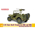 1/4 TON 4x4 TRU8CK W/M2 50-Cal MACHINE GUN KIT 1:6 Dragon Kit Mezzi Militari Die Cast Modellino