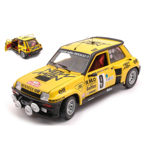 RENAULT 5 TURBO N.9 5th RALLY MONTE CARLO 1982 B.SABY-F.SAPPEY 1:18 Solido Auto Rally Die Cast Modellino