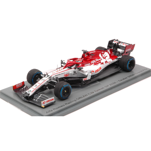 ALFA ROMEO C39 KIMI RAIKKONEN 2020 N.7 TURKISH GP SAUBER 500th RACE 1:43 Spark Model Formula 1 Die Cast Modellino