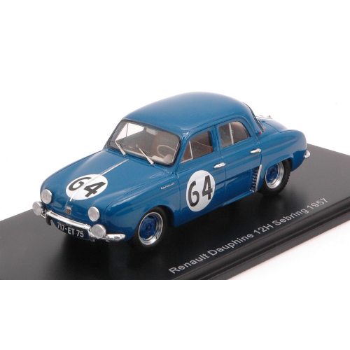 RENAULT DAUPHINE N.64 34th 12 H SEBRING 1957 M.MICHY-M.FOULGOC 1:43 Spark Model Auto Competizione Die Cast Modellino