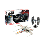 STAR WARS COLLECTOR SET X-WING FIGHTER & TIE FIGHTER KIT 1:57 - 1:65 Revell Kit Movie Die Cast Modellino