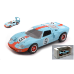 FORD GT40 4.9L V8 TEAM JW AUTOMOTIVE ENGINEERING GULF N.9 WINNER 24h LE MANS 1968 L.BIANCHI-P.RODRIGUEZ 1:43 Norev Auto Competizione Die Cast Modellino