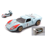 FORD GT40 MKII 7.0L V8 TEAM SHELBY AMERICAN INC. N.1 2nd (BUT REALLY WINNER) 24h LE MANS 1966 K.MILES-D.HULME 1:43 Norev Auto Competizione Die Cast Modellino